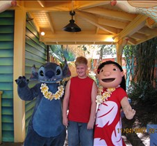 Tyler with Lilo & Stitch