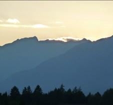 Sunset over Dolomites