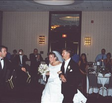 Rob & Stacy entering reception 2