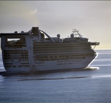 Golden Princess Heading for Open Sea
