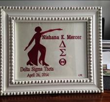 Delta Sigma Theta Framed