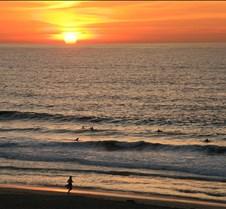 Runner on Beach at Sunset