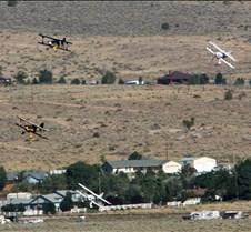 Biplanes Rounding Pylon-6
