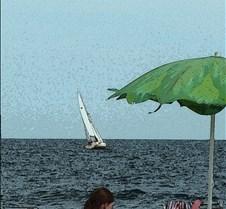 sailboat and book