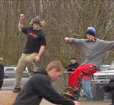 dancing skateboarders