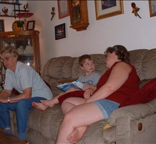 Jackie, Danny and Lori on the couch