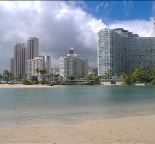 View from Waikiki beach