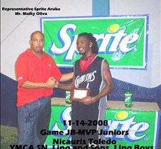 11142008 Game JB-MVP Juniors Nicauris To