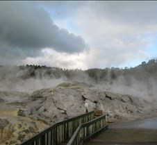Geothermal Steam mixed with Clouds