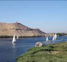 View from our room in Aswan
