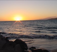Sunset on the 13th with Kaho'olawe in th