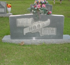 Thurman & Maggie Hood Head Stone