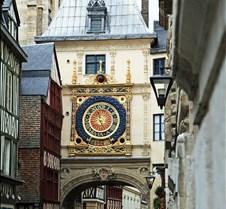 City Clock in Rouen France