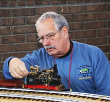 Dave Frediana With His Live Steam Loco