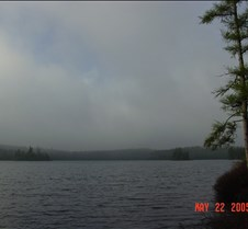 62.Morning fog in  Burnt lake