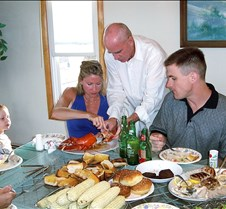 Kevin Jill Joe and Brad eating