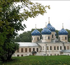 Yuriev Monastery in Novgorod Russia