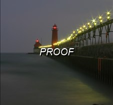 Grand Haven MI Lighthouse Lighted 4