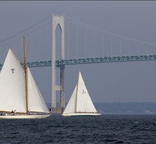 Newport Classic Yacht Regatta Beautiful yachts race in Narragansett Bay off the city of Newport, Rhode Island