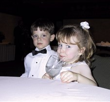 Caitlin and Conner at Table