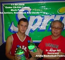 11302008 Game CB-FIN Cadets Mark Paula