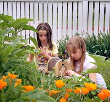 Amelia & Brenna with Poppies 2