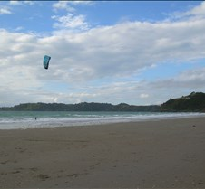 Kite Surfer on Onetangi Beach