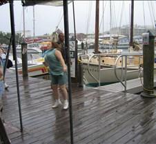 Dana dancing at the Schooner Wharf