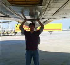Josh Holding up the Belly of an AA 762