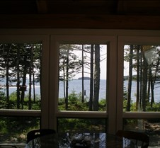 Through sunroom windows to Gulf of Maine