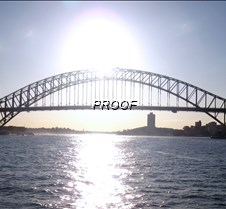 Sun through the Harbour Bridge