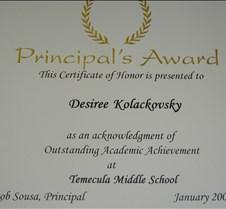 6th Grade Principle Award-DSCN0253_JPG