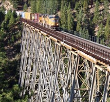 UP-4727 Eastbound Over Clio Trestle
