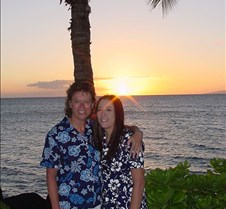 Laura and Whitney at Sunset