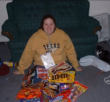 Patty with all the candy!