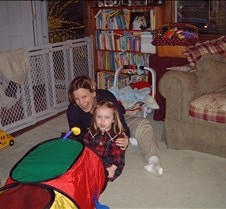Stacy and Catilin with caterpillar 20010