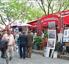 Artist community of Montmartre in Paris
