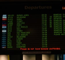 Auckland Airport Departure Monitor