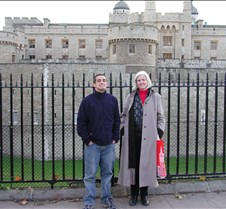 Joan and Graham at the Tower of London