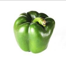Green Pepper Standing Up
