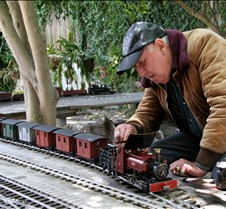 John Coughran With His Coal Fired 0-4-0