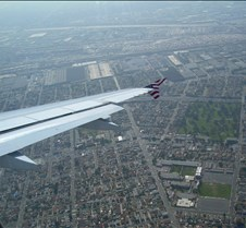 Turning West over LA