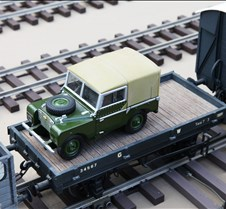 Rob Meadows' Flat Car with Land Rover