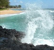 Beach along road going to Kee beach