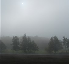 Sun over Misty Fields