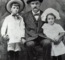 John Garrett with Charles and Blanche Ga