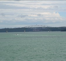 Auckland Harbot Bridge from Boat