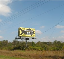 That big yellow Nav-A-Gator billboard