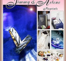 Jimmy & Arlene Wedding album layout