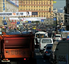 A Central Moscow Street at Rush Hour